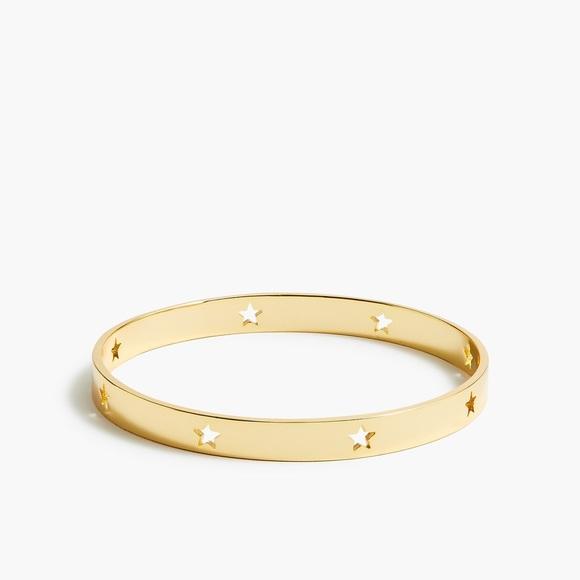 NWT J. Crew Gold Star Cut Out Bangle Bracelet